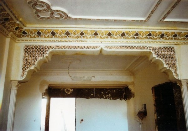 Pin decoration platre marocain plafond on pinterest for Decoration porte marocaine